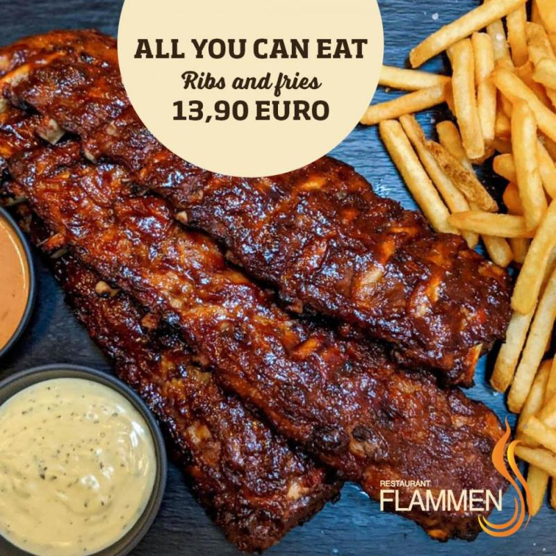 All you can eat ribs and fries 2